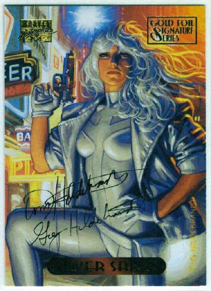Marvel Masterpieces 1994 #110 Gold Foil Signature Card