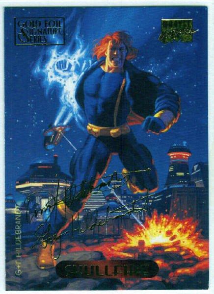 Marvel Masterpieces 1994 #113 Gold Foil Signature Card