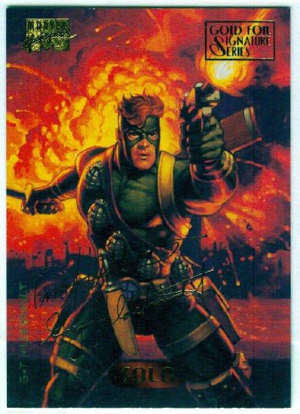Marvel Masterpieces 1994 #114 Gold Foil Signature Card