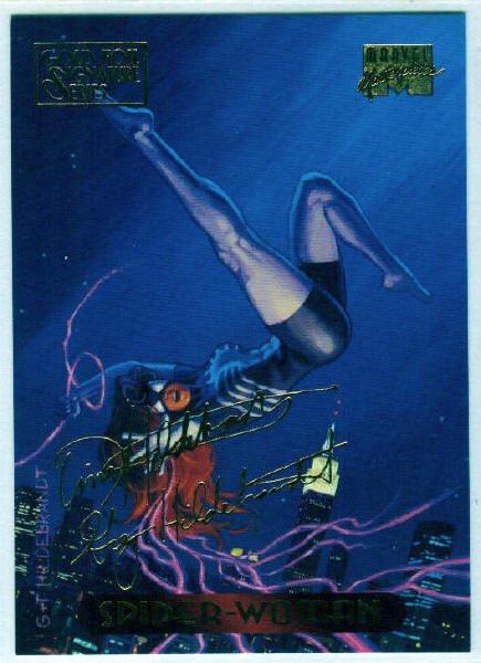 Marvel Masterpieces 1994 #117 Gold Foil Signature Card