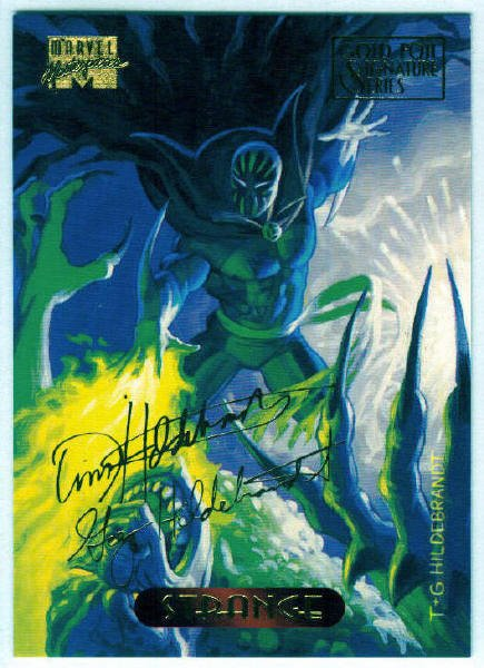 Marvel Masterpieces 1994 #119 Gold Foil Signature Card