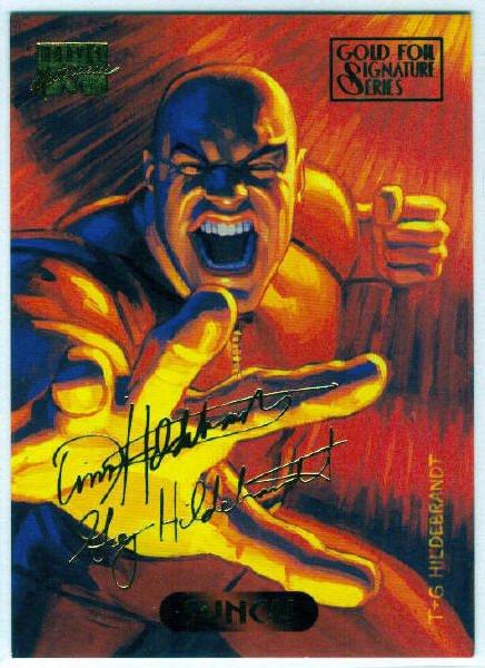 Marvel Masterpieces 1994 #120 Gold Foil Signature Card