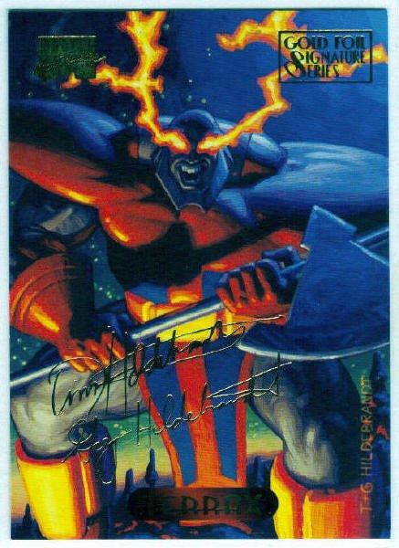 Marvel Masterpieces 1994 #121 Gold Foil Signature Card
