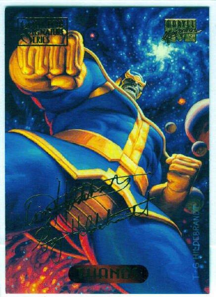 Marvel Masterpieces 1994 #122 Gold Foil Signature Card