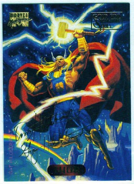 Marvel Masterpieces 1994 #124 Gold Foil Signature Card