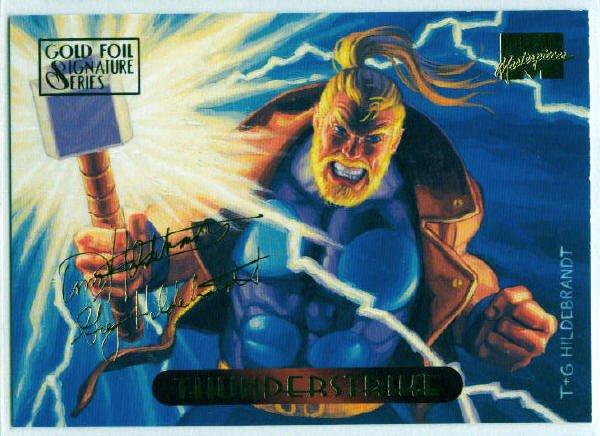 Marvel Masterpieces 1994 #125 Gold Foil Signature Card