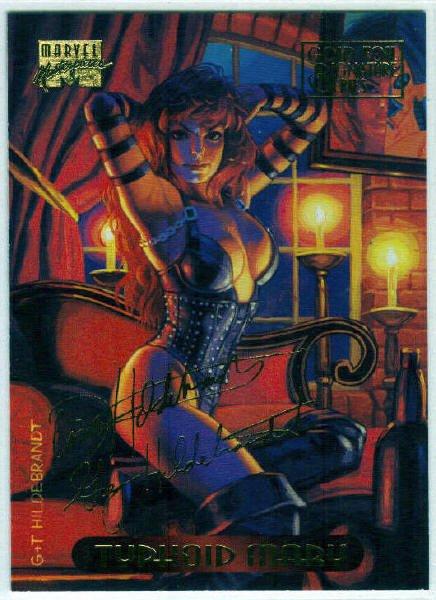 Marvel Masterpieces 1994 #126 Gold Foil Signature Card