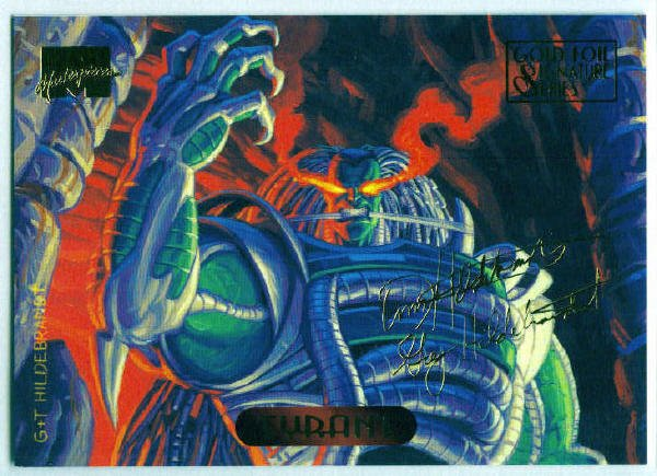 Marvel Masterpieces 1994 #127 Gold Foil Signature Card