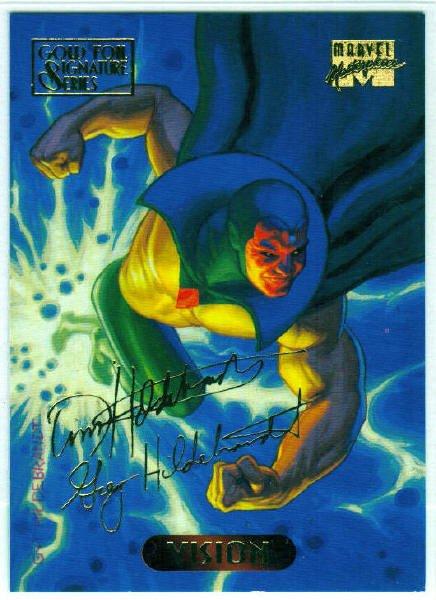 Marvel Masterpieces 1994 #132 Gold Foil Signature Card