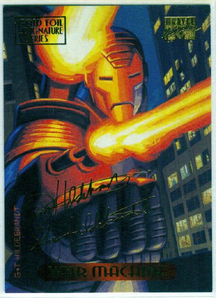 Marvel Masterpieces 1994 #133 Gold Foil Signature Card