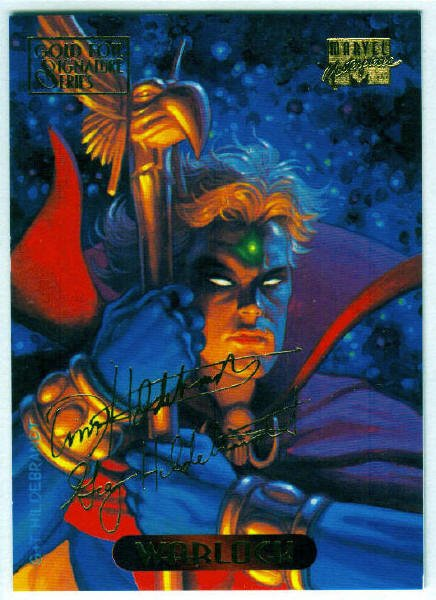 Marvel Masterpieces 1994 #134 Gold Foil Signature Card