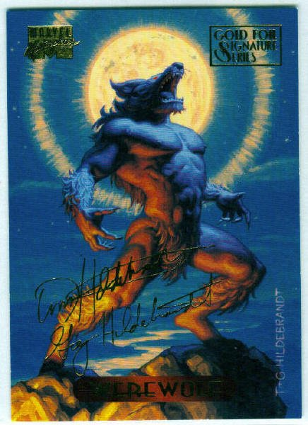 Marvel Masterpieces 1994 #135 Gold Foil Signature Card