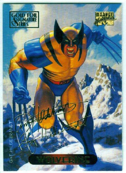 Marvel Masterpieces 1994 #137 Gold Foil Signature Card