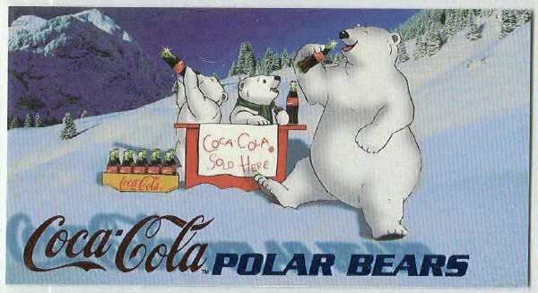 Coca Cola Sign Of Good Taste #PB6 Polar Bear Foil Card