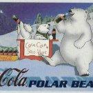 Coca Cola Sign Of Good Taste #PB6 Polar Bear Foil Card