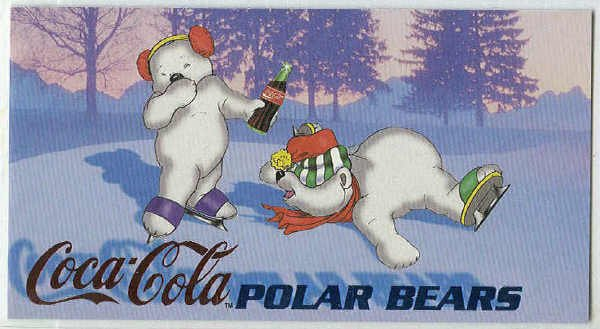 Coca Cola Sign Of Good Taste #PB7 Polar Bear Foil Card