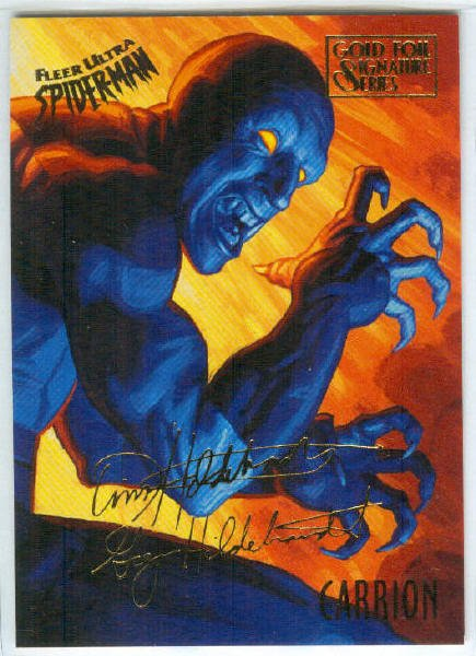 Spider-Man Fleer Ultra #13 Gold Foil Signature Carrion