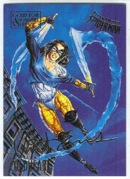 Spider-Man Fleer Ultra #17 Gold Foil Signature Coldheart