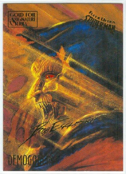 Spider-Man Fleer Ultra #18 Gold Foil Signature Demogoblin