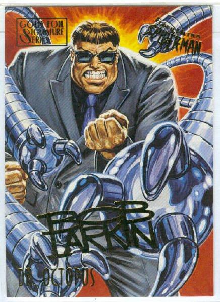 Spider-Man Fleer Ultra #19 Gold Foil Signature Dr. Octopus