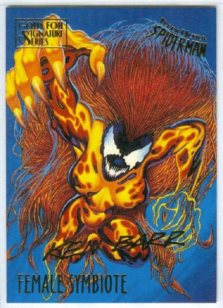 Spider-Man Fleer Ultra #22 Gold Foil Signature Female Symbiote