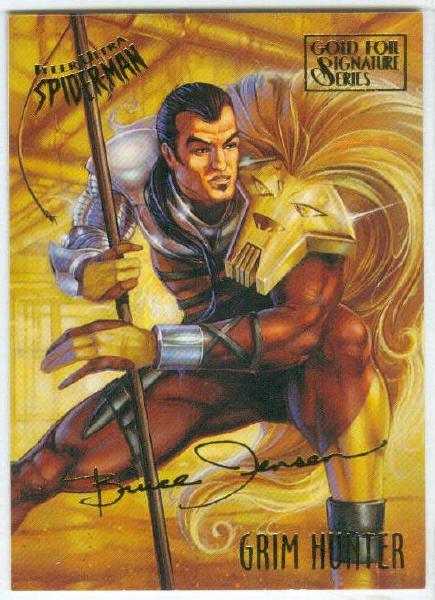 Spider-Man Fleer Ultra #24 Gold Foil Signature Grim Hunter