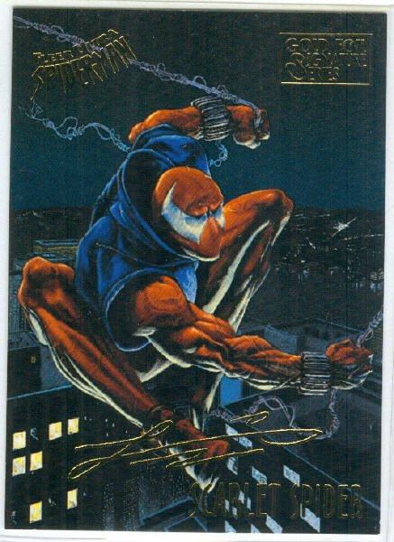 Spider-Man Fleer Ultra #48 Gold Foil Signature Scarlet Spider