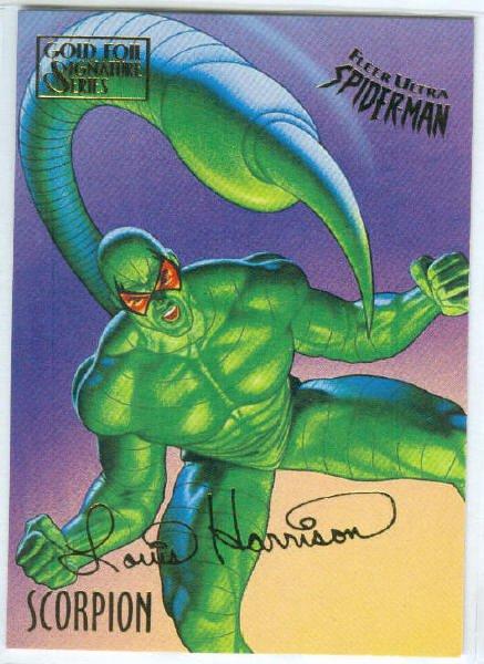Spider-Man Fleer Ultra #49 Gold Foil Signature Scorpion