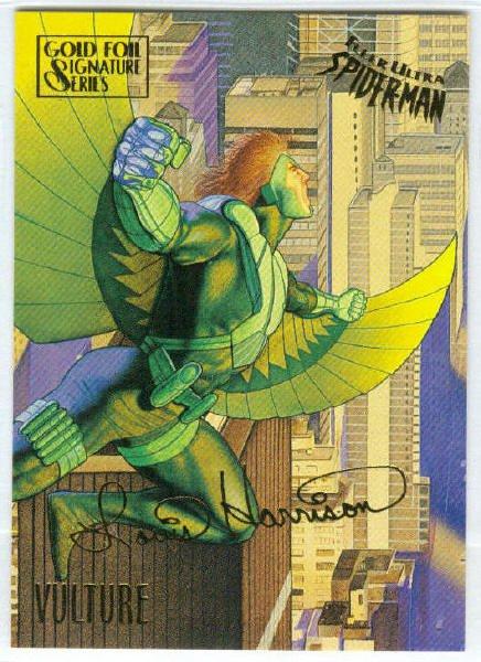 Spider-Man Fleer Ultra #62 Gold Foil Signature Vulture