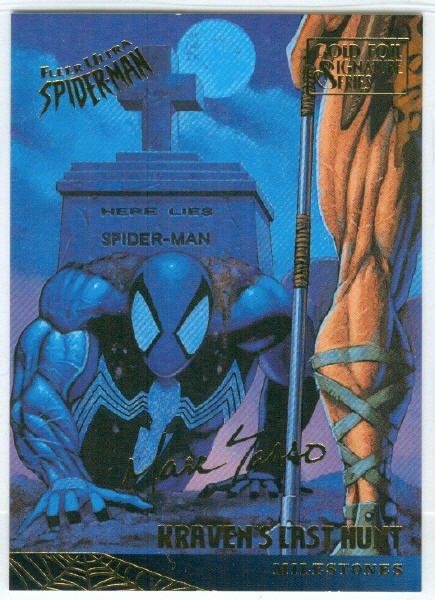 Spider-Man Fleer Ultra #89 Gold Foil Signature Kraven's Last Hunt