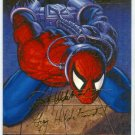 Spider-Man Fleer Ultra #93 Gold Foil Signature Power and Responsibility