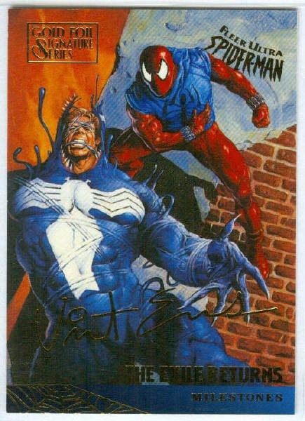 Spider-Man Fleer Ultra #94 Gold Foil Signature The Exile Returns