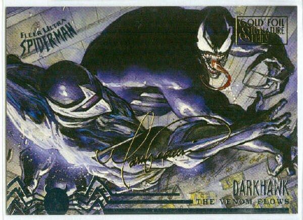 Spider-Man Fleer Ultra #101 Gold Foil Signature Darkhawk