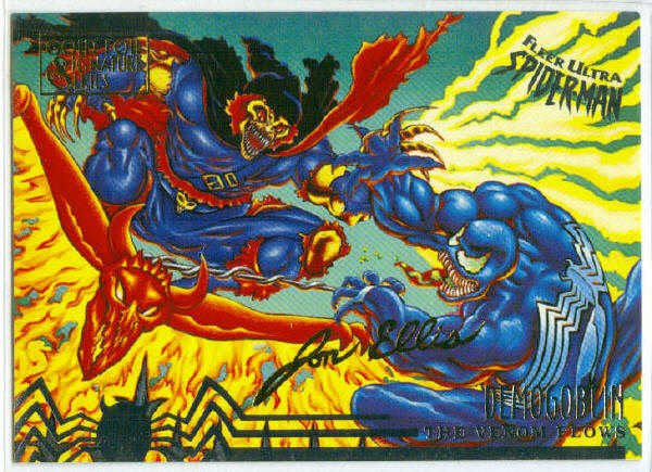 Spider-Man Fleer Ultra #102 Gold Foil Signature Demogoblin
