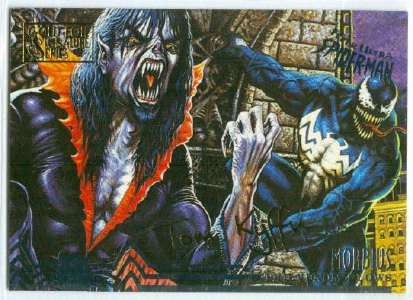 Spider-Man Fleer Ultra #106 Gold Foil Signature Morbius
