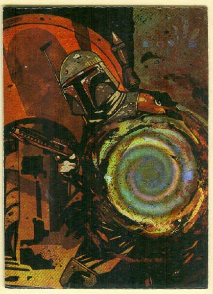 Star Wars Finest #4 Matrix Chase Trading Card Boba Fett