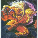 X-Men 95 Ultra #6 Foil Powerblast Trading Card Sabretooth