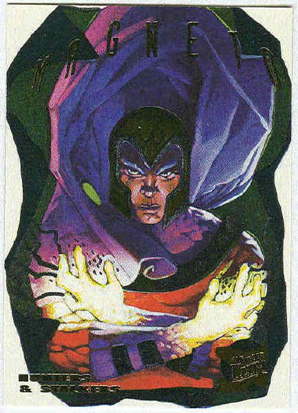 X-Men 95 Ultra #8 Foil Powerblast Trading Card Magneto