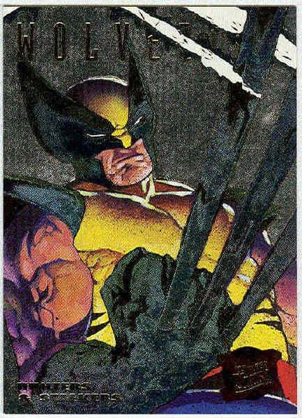 X-Men 95 Ultra #7 Silver Foil Powerblast Card Wolverine