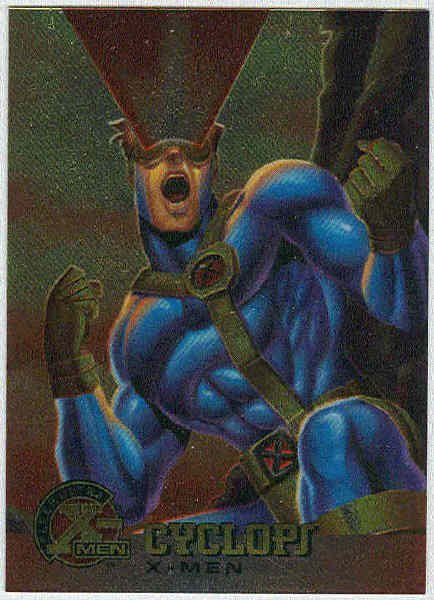 X-Men 1995 Chromium Promo Trading Card Cyclops