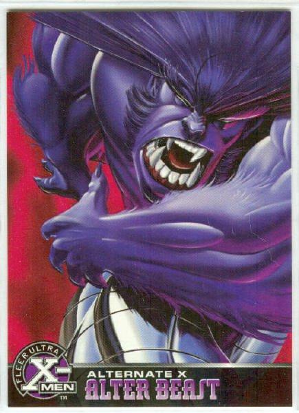 X-Men 1995 Alternate X #2 Alter Beast Embossed Chase Card