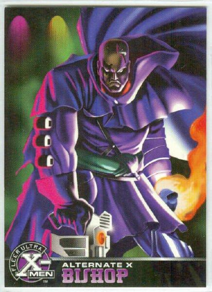 X-Men 1995 Alternate X #4 Bishop Embossed Chase Card