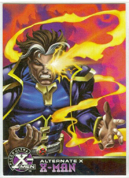 X-Men 1995 Alternate X #6 X-Man Embossed Chase Card