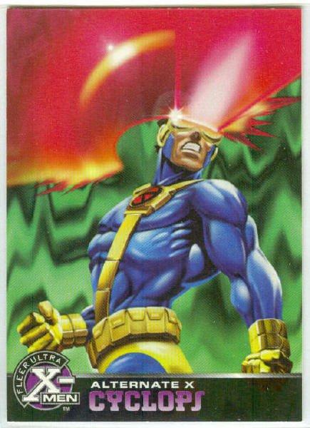 X-Men 1995 Alternate X #7 Cyclops Embossed Chase Card