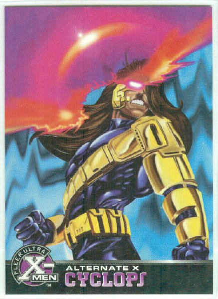 X-Men 1995 Alternate X #8 Cyclops Embossed Chase Card