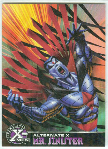X-Men 1995 Alternate X #13 Mr. Sinister Embossed Chase Card