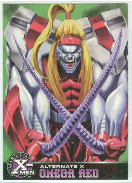 X-Men 1995 Alternate X #15 Omega Red Embossed Chase Card
