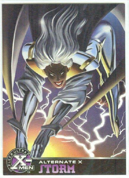 X-Men 1995 Alternate X #17 Storm Embossed Chase Card