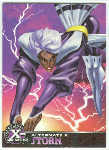 X-Men 1995 Alternate X #18 Storm Embossed Chase Card