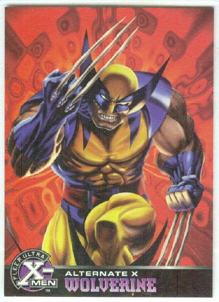 X-Men 1995 Alternate X #19 Wolverine Embossed Chase Card
